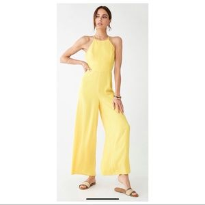 NWT Forever 21 Yellow Jumpsuit